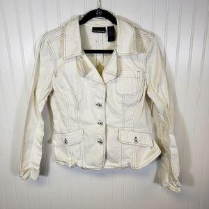 DKNY White Jean Jacket